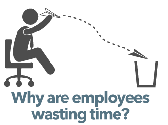 Why are employees wasting time? - With time management software you can put and end to wasted time in the workplace and increase your productivity