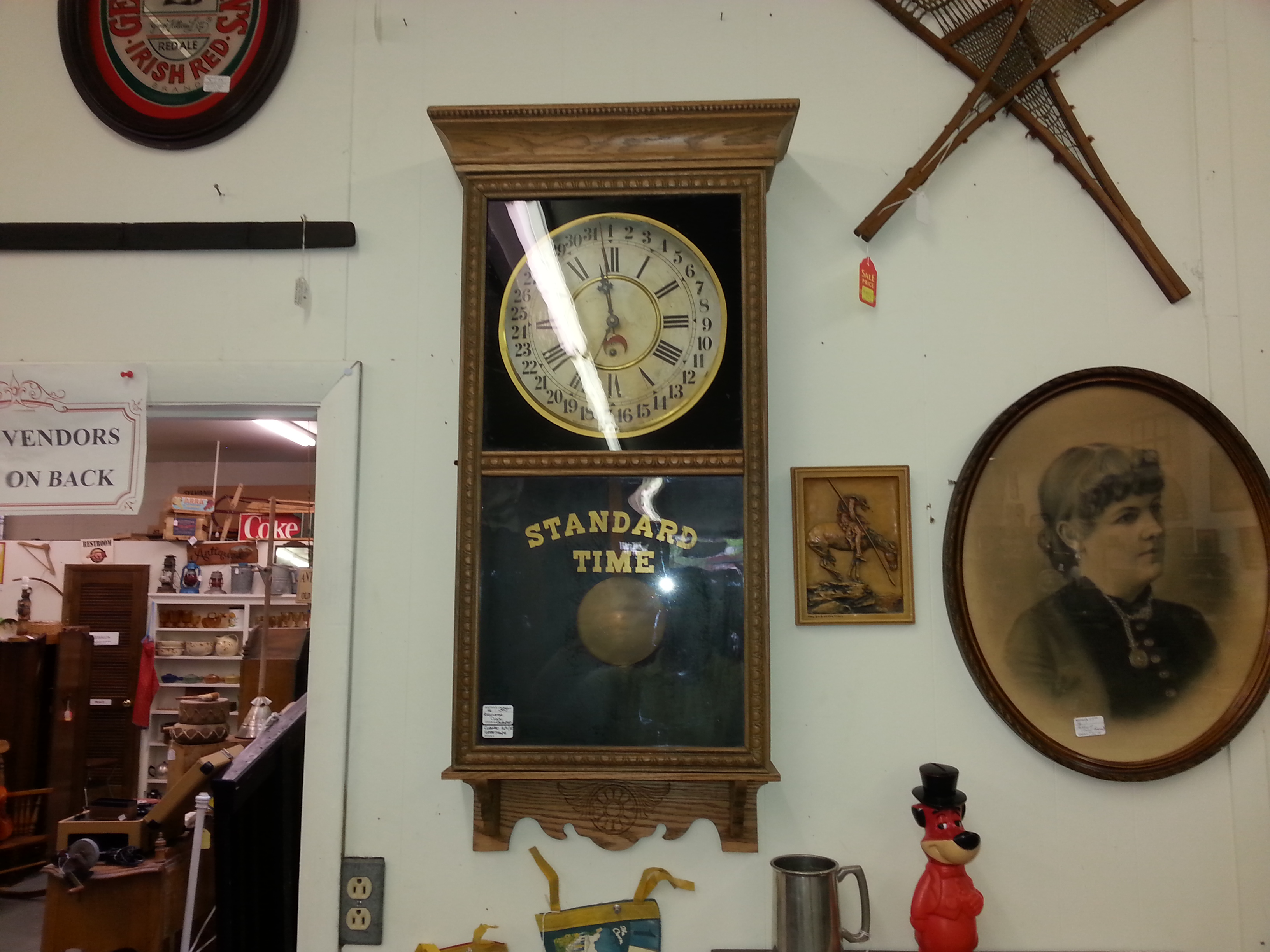 antique standard time clock