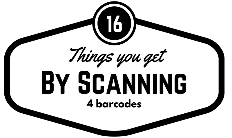 16 Things you get by scanning just 4 barcodes